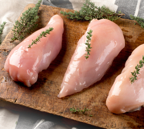 Fresh chicken breasts