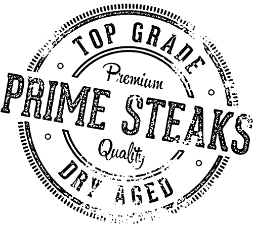 Premium quality prime steaks sign