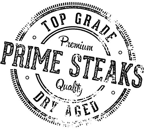 Premium quality prime steaks sign